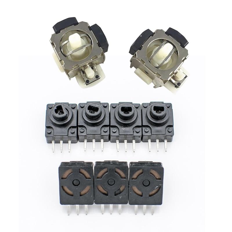 2 pièces noir Lt/Rt bouton clavier pour X box 360 & 2 pièces 3D analogique Vibration Joystick punaise pour Microsoft X box 360 Ps2