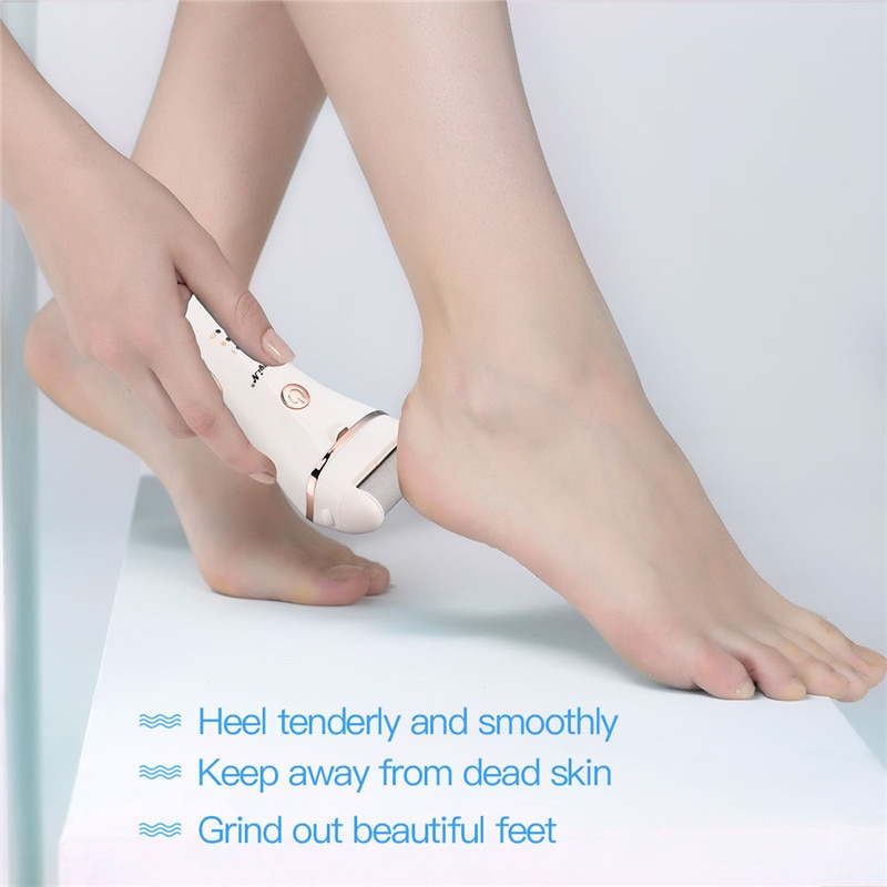 Electric Foot Scrubber Callus Remover Pedicure Machine Powerful Washable Feet Heel Dead Skin Exfoliating Grinding Roller 3 Heads enlarge