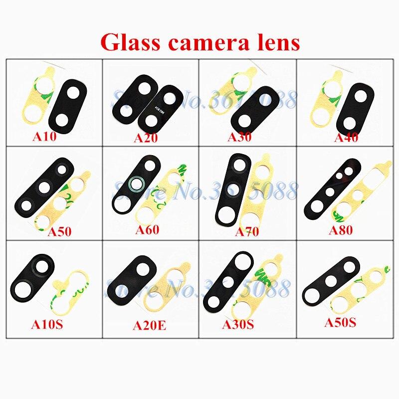 1x nuevo Cámara de la lente de cristal con adhesivos para Samsung Galaxy A10 A10S A20 A20E A30 A30S A40 A50 A50S A60 A70 A80