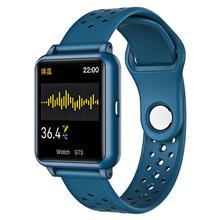 P29 montre intelligente hommes femmes Bracelet mesure de la température du corps podomètre de fréquence cardiaque IP67 étanche Smartwatch pour Android Ios