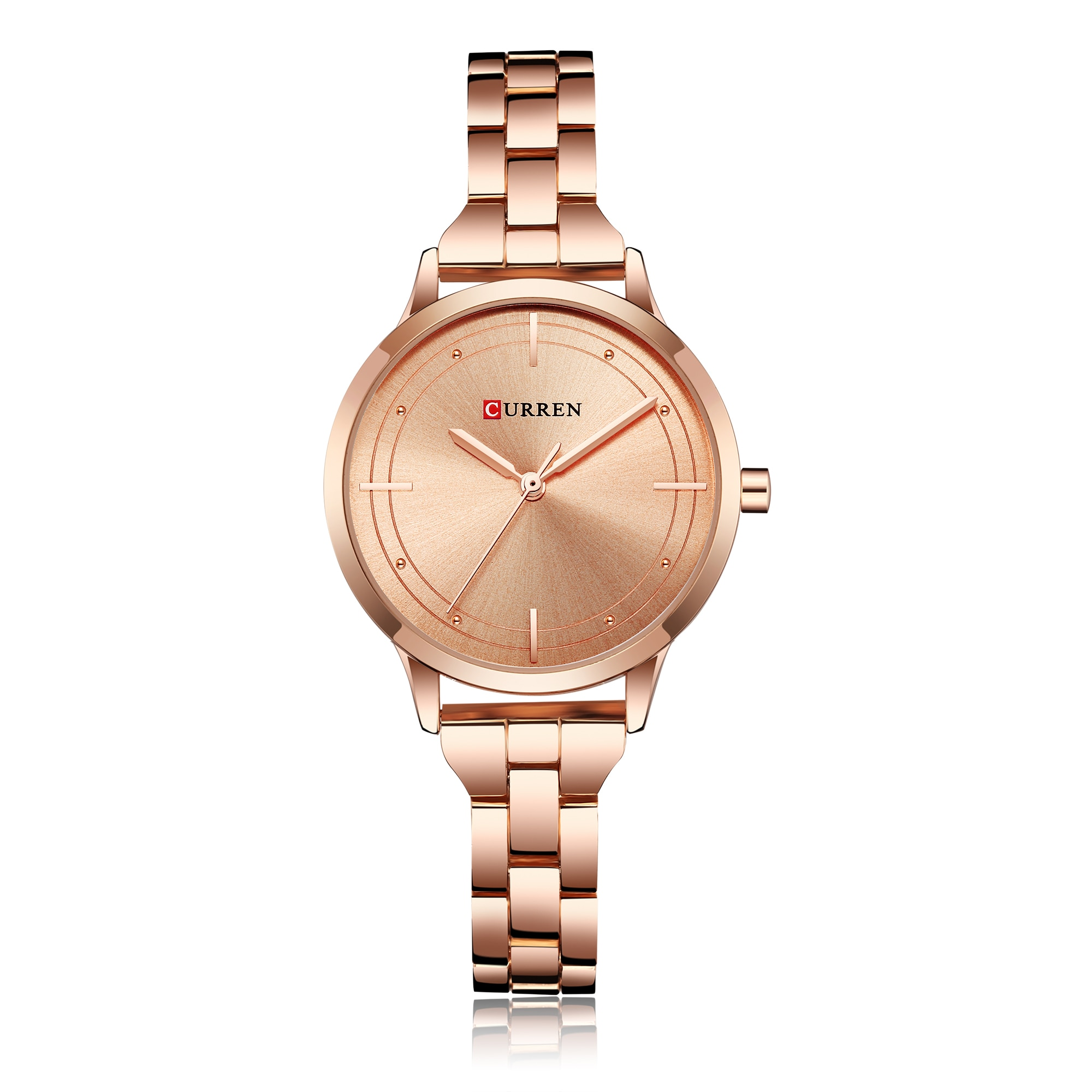 CURREN Reloj Women Watches 2019 Classic Fashion Female Watch Rose Gold Stainless Steel Wristwatches Water Resistant Montre Femme enlarge