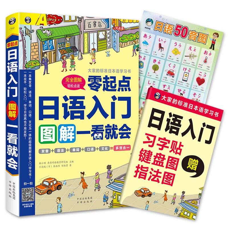Новая японская основная японская книжка-раскраска Zero для начинающих и взрослых