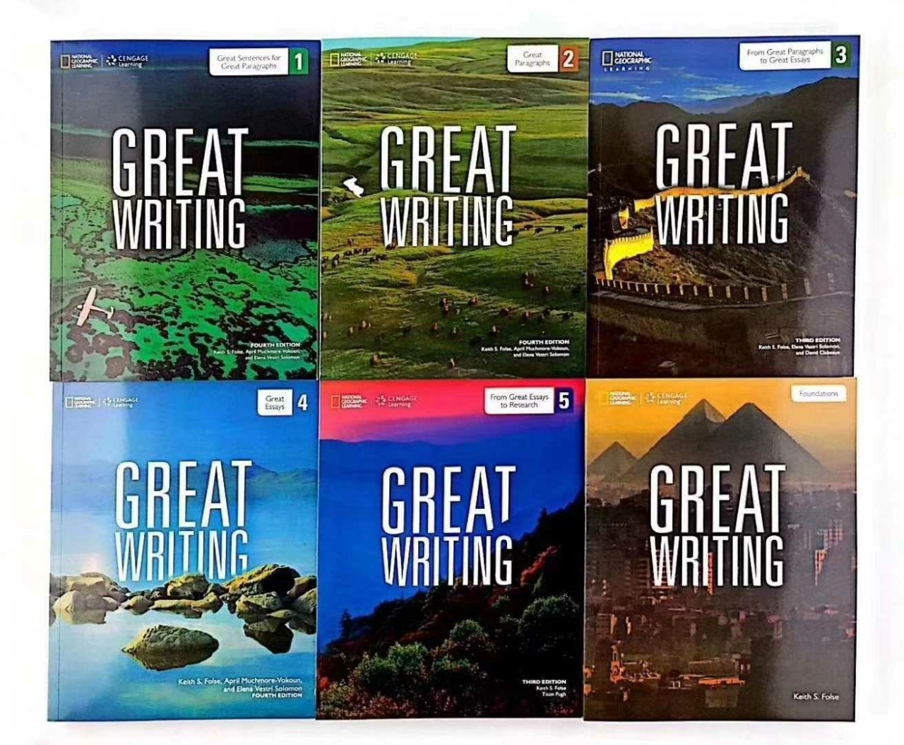 6PCS/Set National Geographic Learning Great Writing Ability Enhancement Textbook Grammar Vocabulary Book English