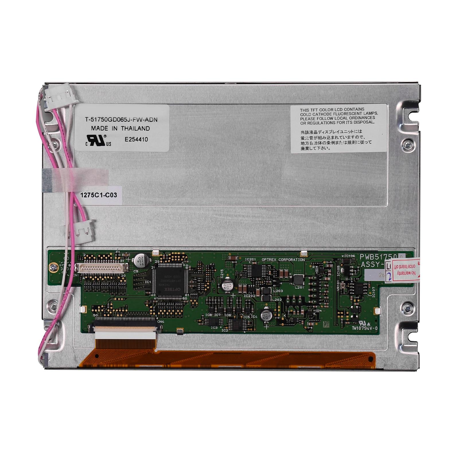 Nueva pantalla LCD de 6,5 pulgadas para OPTREX 640*480 T-51750AA reemplazo de Monitor digitalizador de T-51750GD065J-FW-ADN