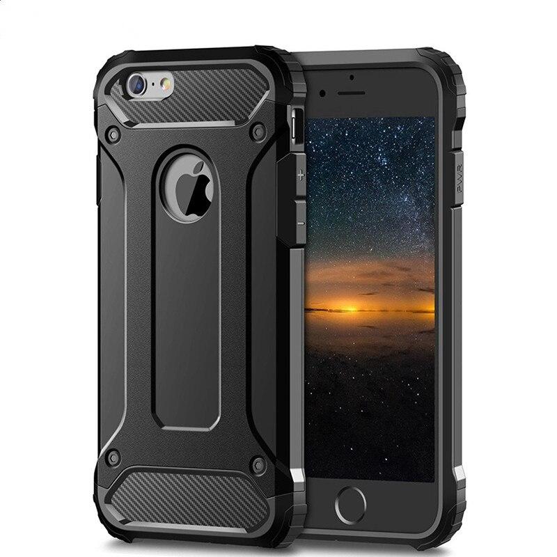 Funda resistente de doble capa armadura para iPhone 11 Pro Max 2019 6 6s 7 8 Plus X XS Max XR 5 5S SE carcasa dura a prueba de golpes