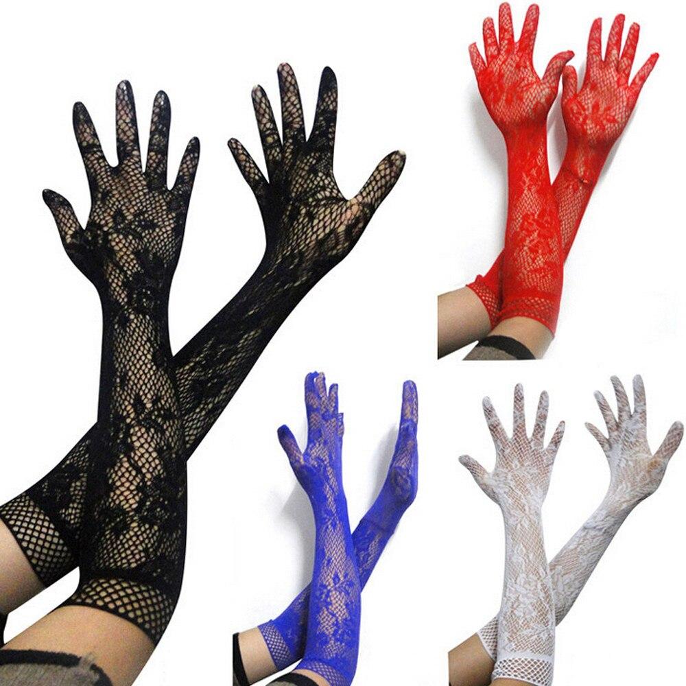 Женские кружевные длинные перчатки 2020 новые модные сетчатые Лоскутные белые перчатки для девушек эластичные хип-хоп Guantes супер длинные перчатки Gants Femme