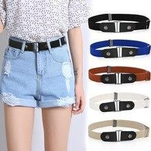 Fashion Women Ladies Printing Leather Waist Belt Body Belt Wide Elastic Belt Buckle Jeans Black Chic
