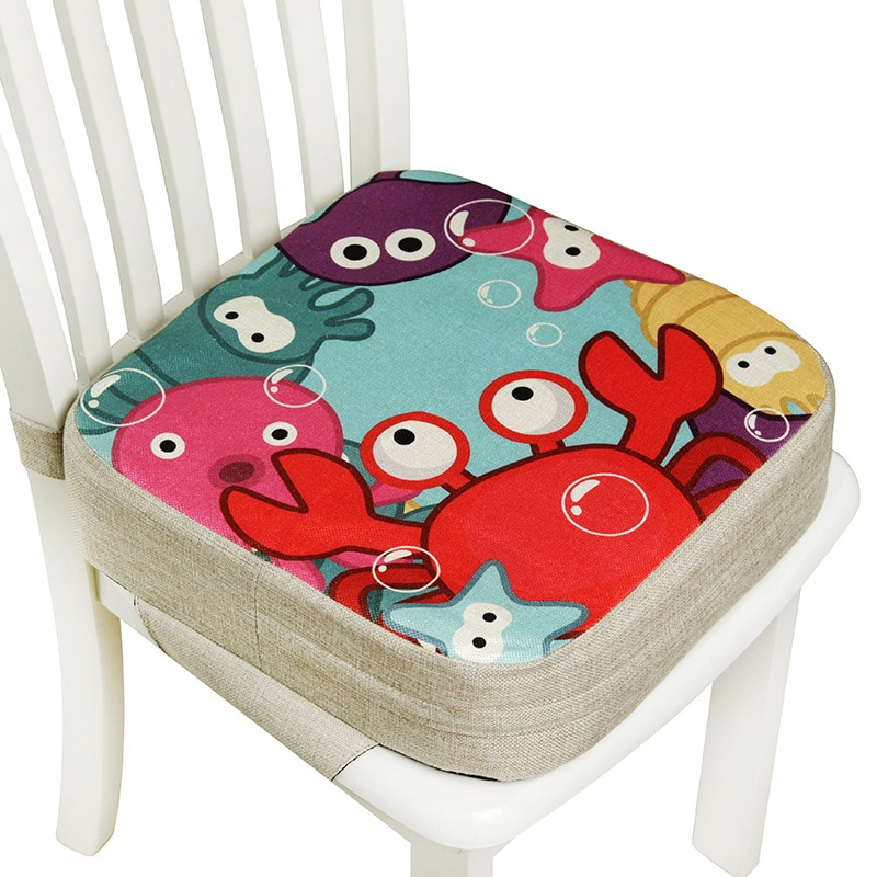 Portable Children Increased Chair Pad Soft Baby Children Dining Cushion Adjustable Removable Chair B