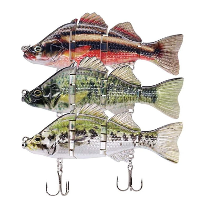 Fishing Gear Accessories Multi-Section Lure Bionic Bait Hook Long-Range Sea Fishing Fake Bait 10CM