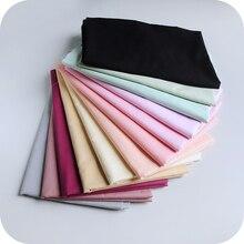 1 mètre 16 couleur Pure couleur coton peigné à la main bricolage vêtements jupe doublure tissu accessoires 50cm/140cm robe en soie 100% coton