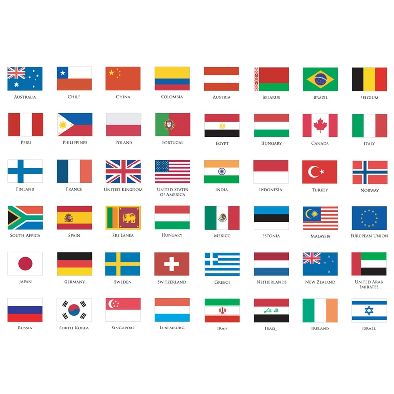 1 Uds. Logo mundial de bandera nacional, pegatinas de viñetas para diario, agenda, pegatina estética, papelería escolar