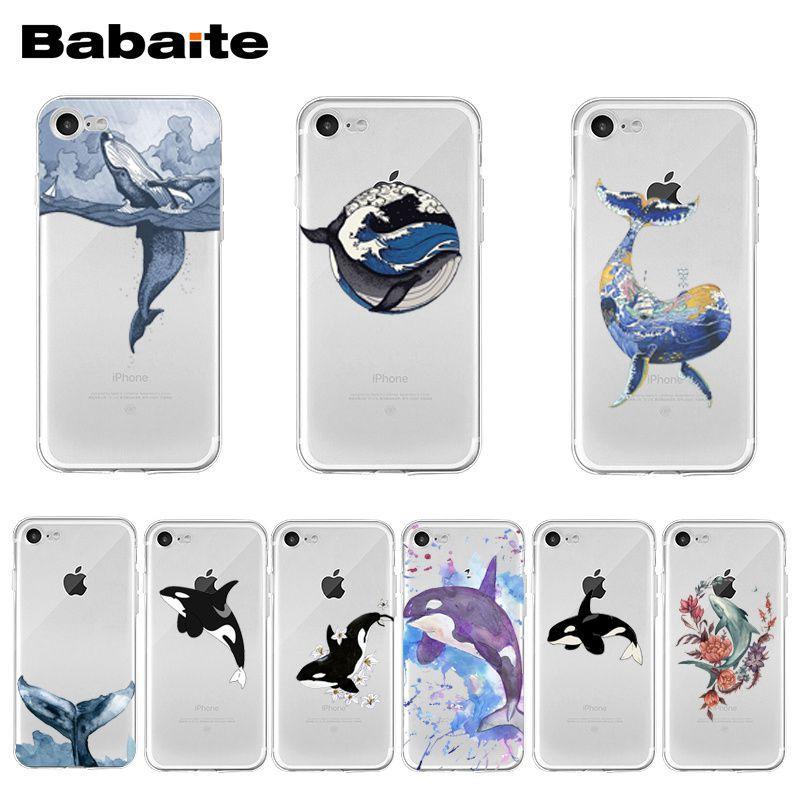 Чехол для телефона Babaite Killer Whales с принтом океанских животных для iPhone XR 11 Pro Max XS MAX 8 7 6 6S Plus X 5 5S SE