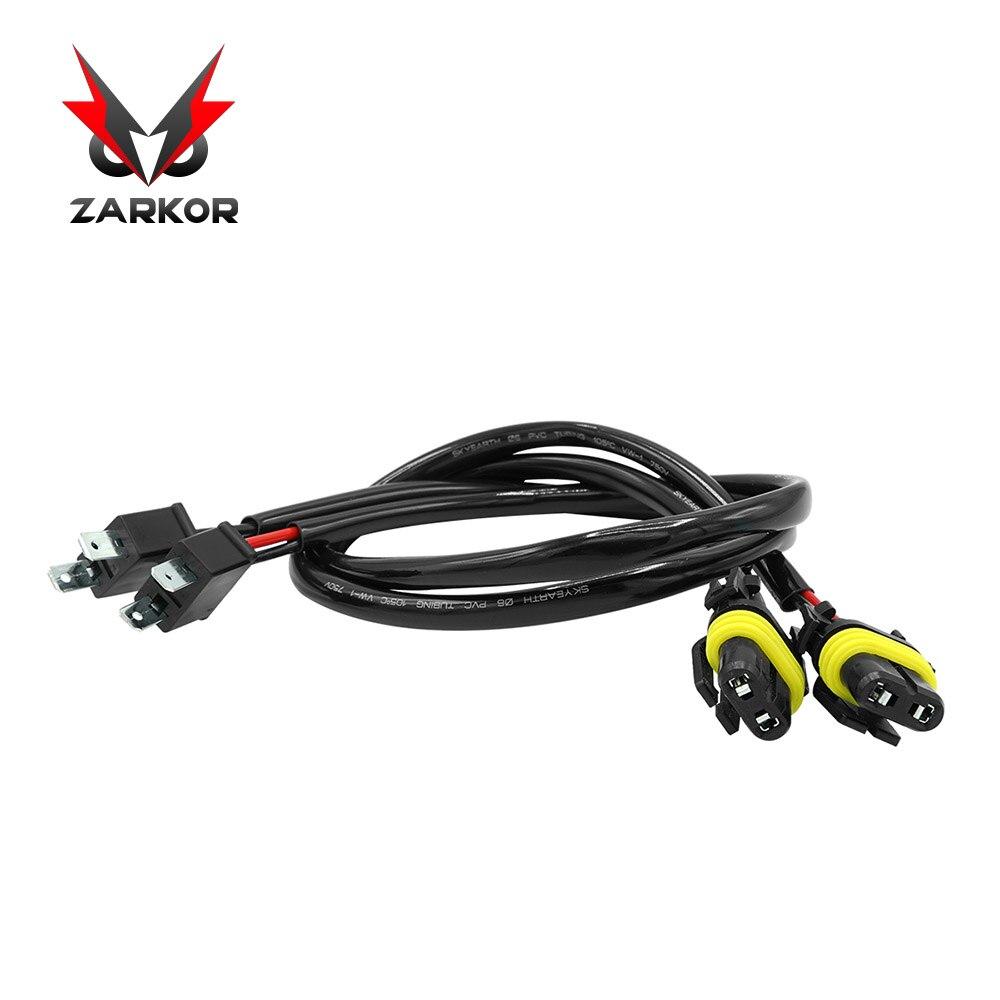 Zarkor 2 шт. HID Xenon Удлинительный кабель провод для H7 35 Вт/55 W 100W 12V 24V HID комплект для ксеноновых ламп светодиодный фар Удлинительный кабель провод