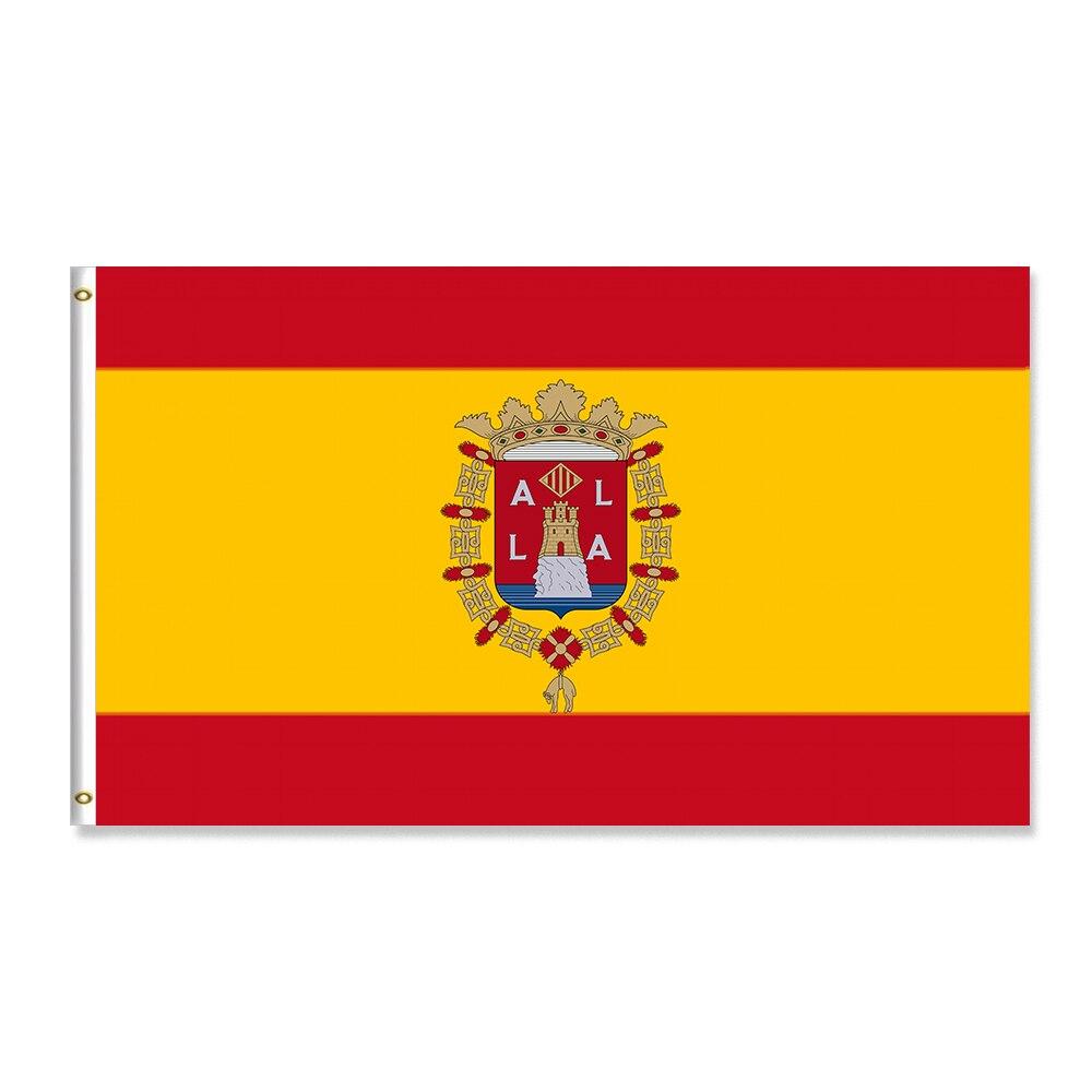Gran oferta Bendera Spanyol Dan Perisai Bendera Alicante bandera 2021