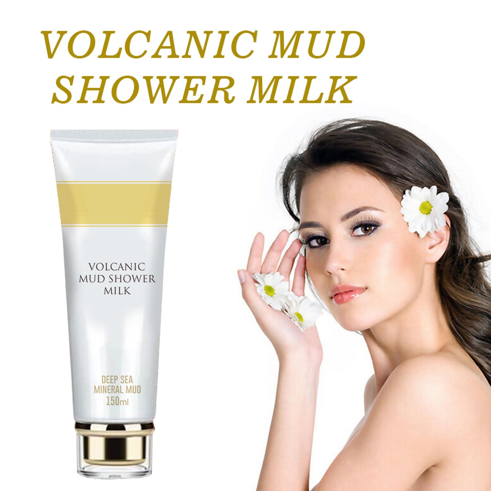 Whitening Volcanic Mud Bath Milk Cream Body Wash Healthy Formulas Wash Deep Clean Body Lotion For Dark Spots Women Men--150ml