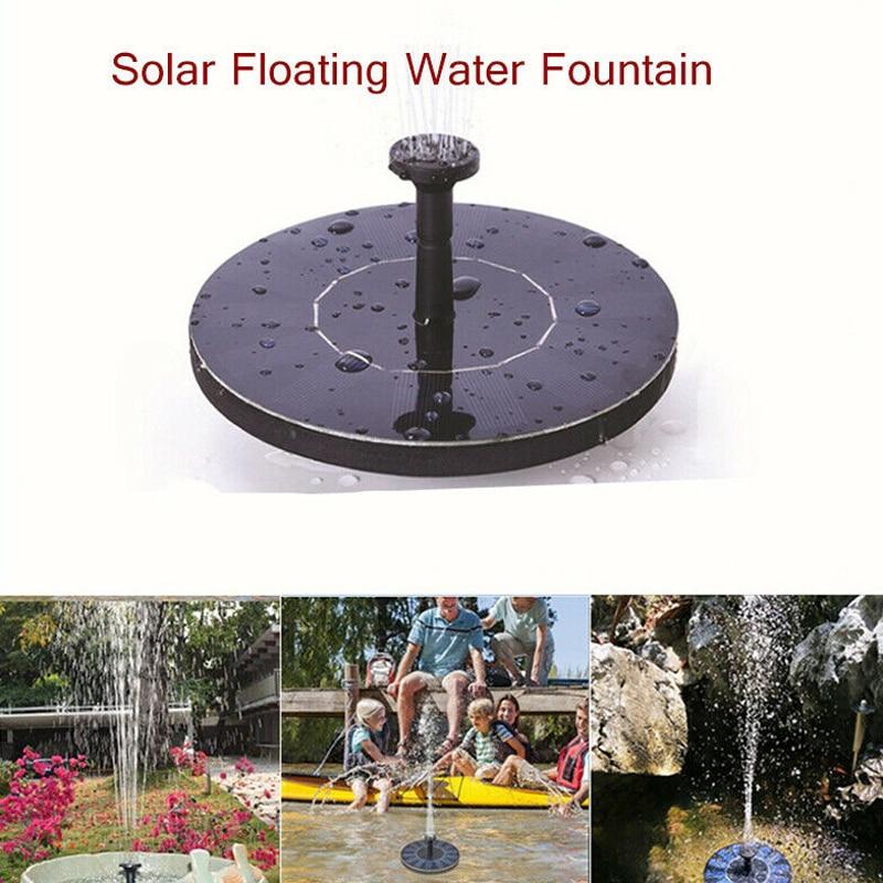210L/H fuente de energía Solar bomba de agua Panel flotante jardín piscina estanque Kit de riego al aire libre