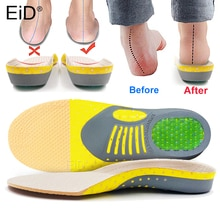 Premium Orthotic Gel Insoles Orthopedic Flat Foot Health Sole Pad For Shoes Insert Arch Support Pad