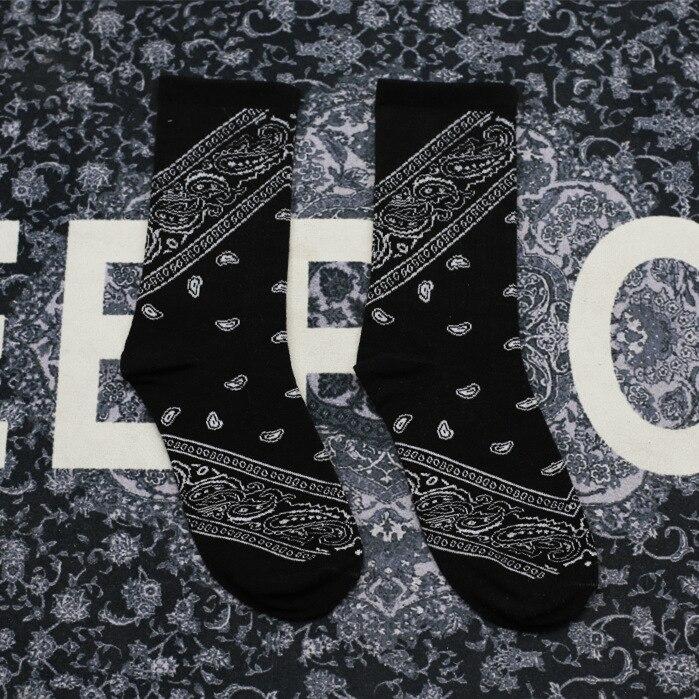 Hommes et femmes coton chaussettes rap rap hip hop côte ouest cajou fleur chaussettes décontractées Couple chaussettes drôles chaussette de sport