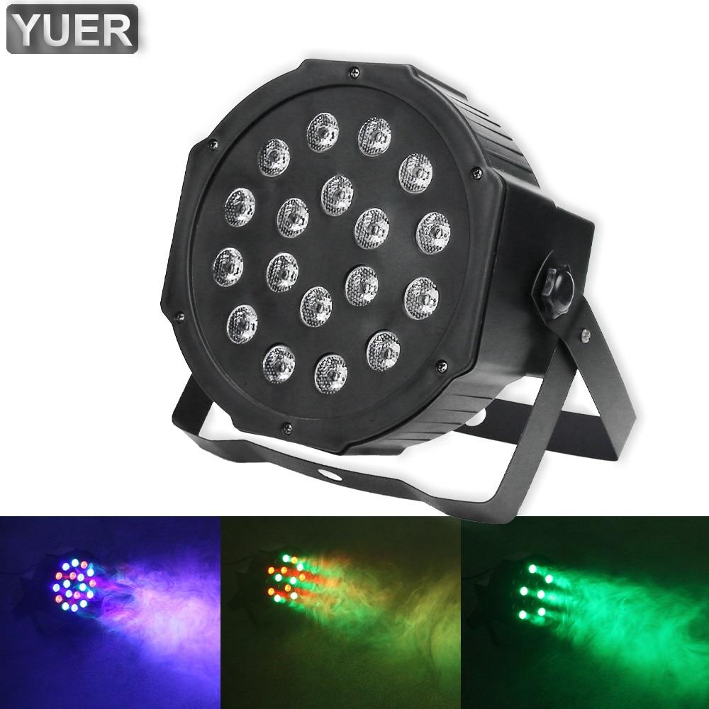 2021 LED RGB LED 18X1W Flat Par Light DMX512 Party Wedding Disco Effect Wash Lights DJ Club Bar Christmas Darkening Spotlight