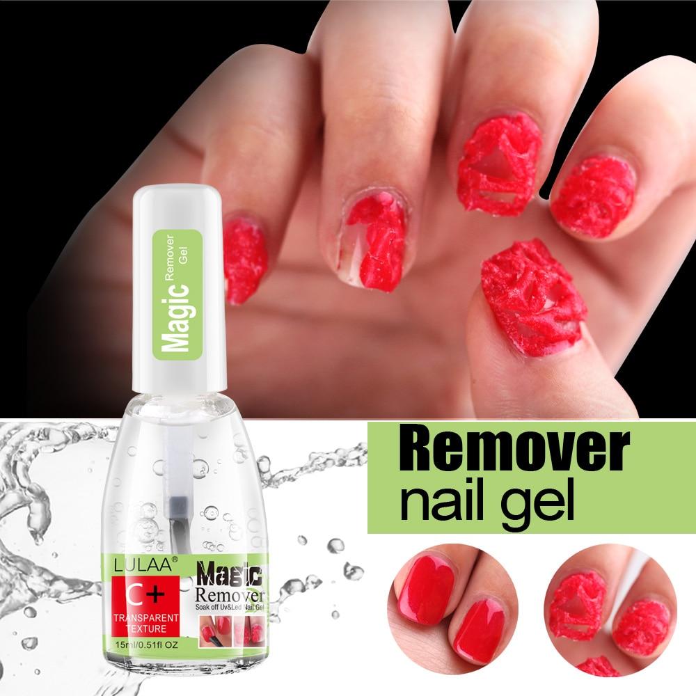 LULAA 15ml Nail Polish Burst Gel Magic Nail Polish Remover Fast Soak Off UV Gel Nail Polish Lint-Free Degreaser Cleaner TSLM1 недорого