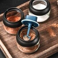 3pcs glass sealed seasoning pot seasoning jars household seasoning boxes sealed condiment pot for home restaurant use