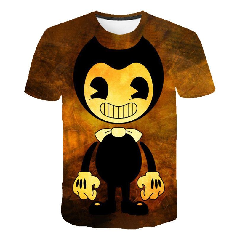 Children Clothes T-shirts Bendy Short Sleeve T-Shirt Tee Clothing Boys Girls Tops Toddler T shirt Infant Tee for 4-14 yrs Kids