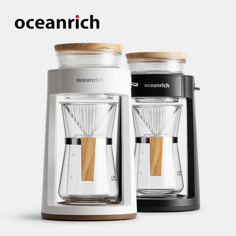 Oceanrich automático gotejamento café despeje sobre cervejeiro de café mão portátil máquina de café pote de café filtro de café 2 xícaras de café brew