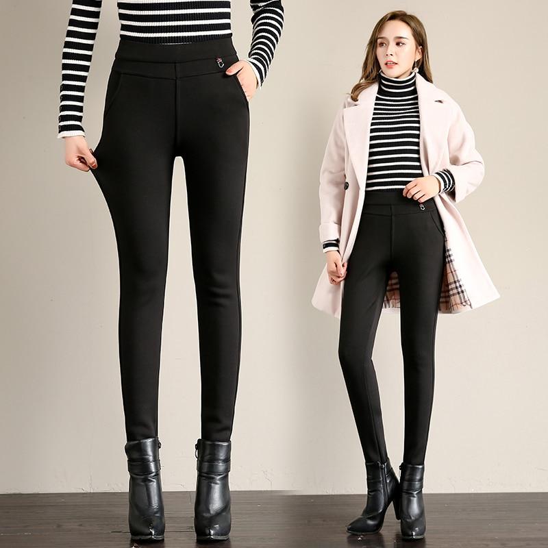Fv10217 2019 new autumn winter women fashion casual Ladies work wear nice Leggings Cashmere thickening warm womans