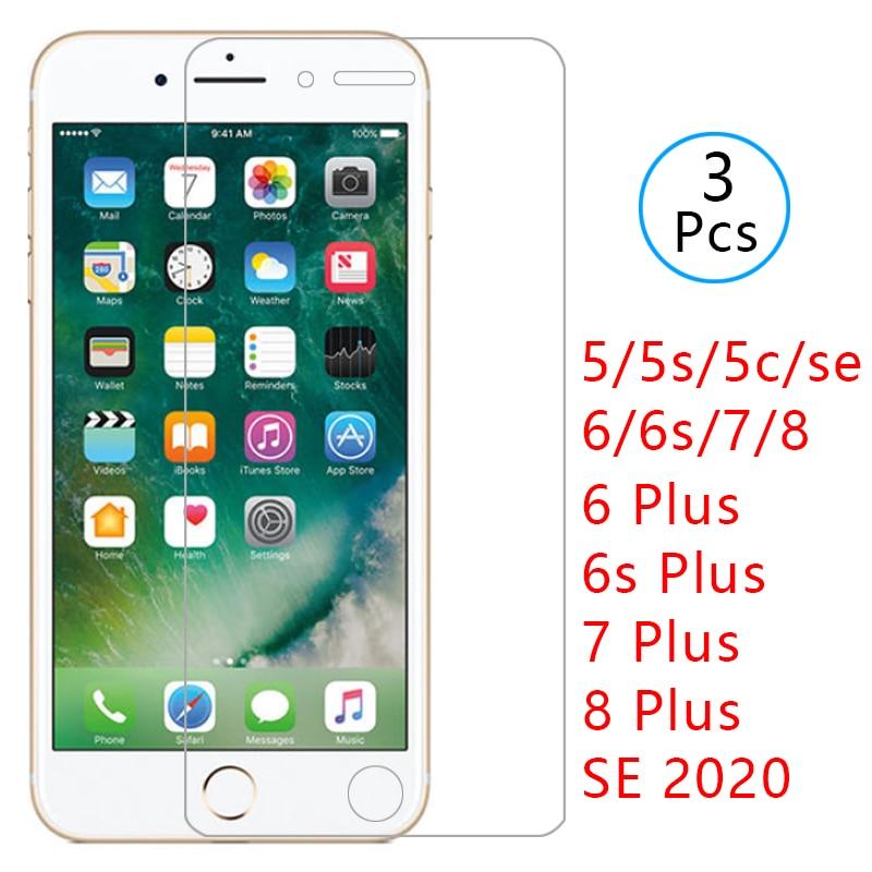 Funda para iphone se 2020 2 8 7 6s 6 plus 5s 5c 5 s cubierta de vidrio templado protector de pantalla en i phone aphone ifone funda protectora