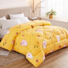 SF Very Warm Winter Blanket Comforter Filler King Queen Twin Size Down Quilt Duvet Pure Color Winter Quilt Duvet 1.5~3kg Weigte