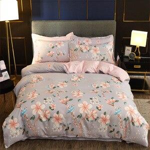 Comforter Bedding Set 4pcs Duvet Cover Set Spring Flowers Bloom Quilt Cover Bed Clothes PillowCase Home Decor Textile