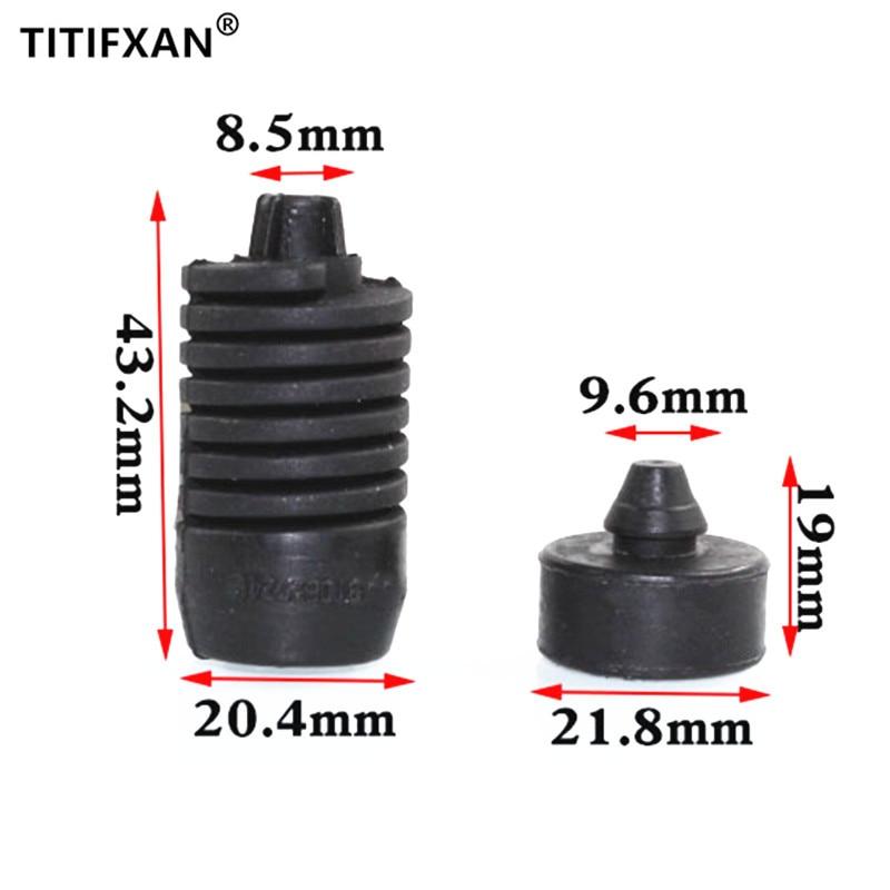 2 pçs cobertura do motor automático almofada bandas de borracha pier choque para audi q7 q5 a6 a6l a4l