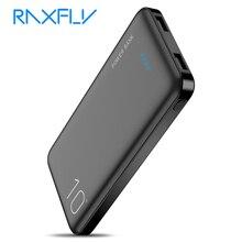 Raxfly power bank 10000 mah carregador portátil para iphone xiaomi mi móvel powerbank 10000 mah poverbank led bateria externa telefone