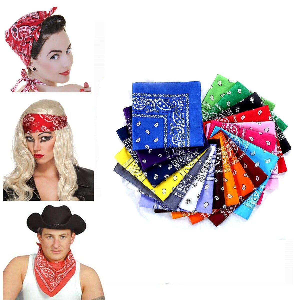 Écharpe gothique unisexe en coton   Toutes saisons, convient pour foulard unisexe, bandeau, bandeau, pour Bandana, Durag Bandanna, masque écharpe pour bikini, été
