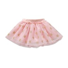 Mode Niedlichen Baby Mädchen Sommer Tutu Röcke Sterne Druck Mesh Prinzessin Mädchen Ballett Tanzen Party Rock Baumwolle Kleidung