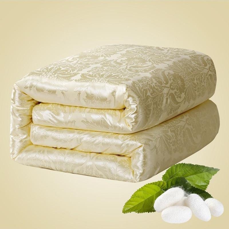 عالية الجودة بلون الحرير الصينية المعزون الخريف/الشتاء لحاف من الحرير التوت الحرير بطانية هالوين مزدوجة التوأم حجم لحاف