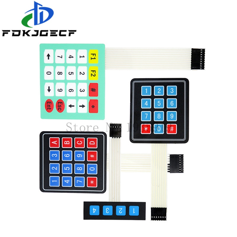 Aliexpress - 10pcs 3x4 Matrix Keypad Membrane Switch For Arduino 12 Keys