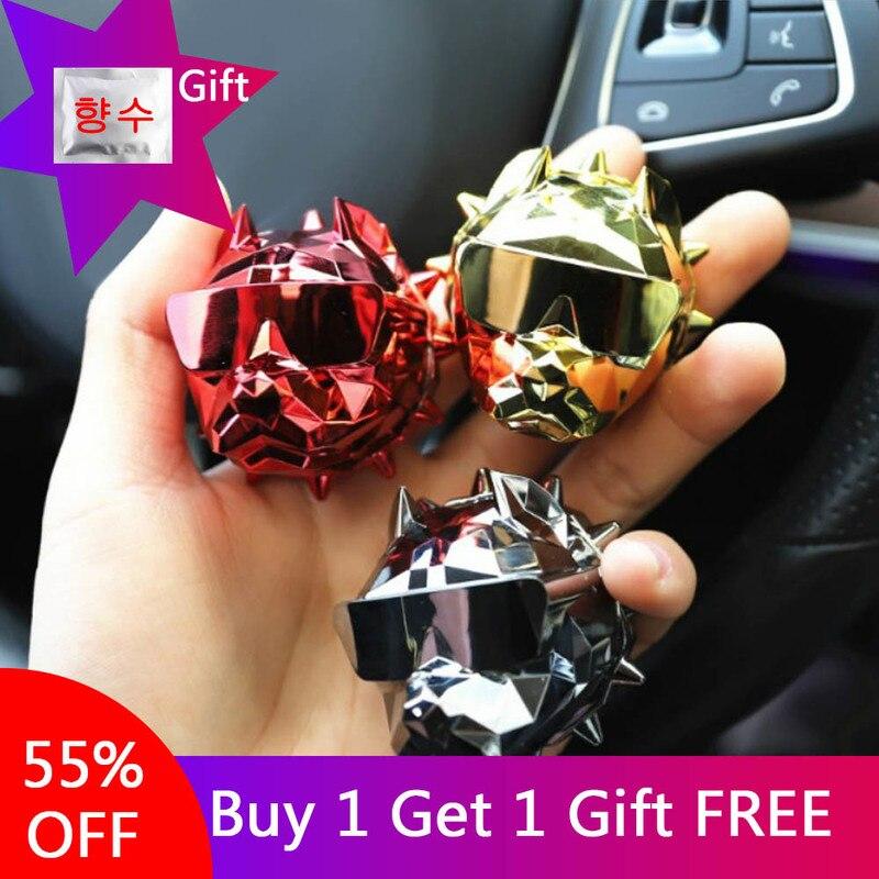 Popular Clip de fragancia para Perfume de coche Bulldog, ambientador de ventilación de aire para coche, difusor de Perfume Bulldog para decoración Interior de coche