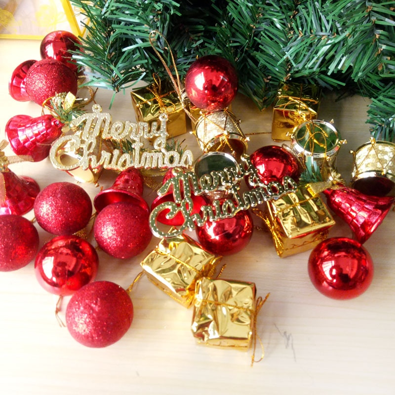 32PCS Christmas Tree Hanging Decor Pendant Balls Christmas Home Party New Year Scene Make Ornaments Home Decoration Accessories