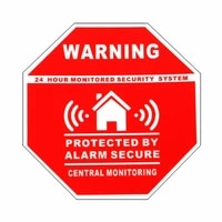 7 5cm safurance 5pcs home house alarm security stickers decals signs for windows doors warning safety