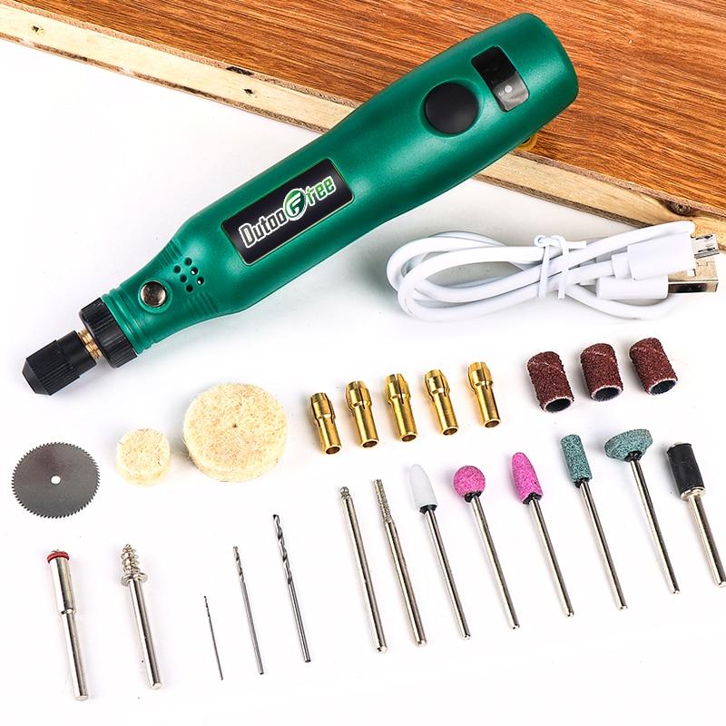 Akumulátorový rotační nástroj USB dřevoobráběcí gravírovací pero DIY pro šperky, kov a sklo bezdrátová vrtačka mini elektrická vrtačka