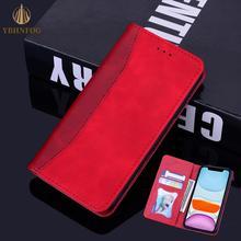 Étui à rabat de luxe pour Samsung Galaxy A20E A30 A40 A50 A10 A11 A21S A31 A41 A51 A71 fentes pour cartes en cuir