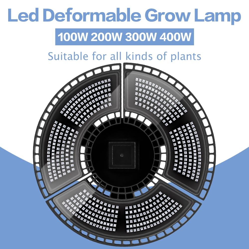 Indoor E27 Led 400W Grow Light Panel Full Spectrum Phyto Lamp For Flowers  Lamp For Plants Hydroponics Led enlarge