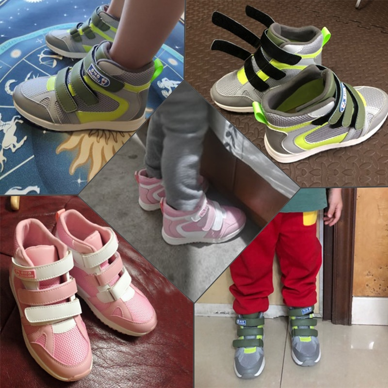 Girls Sneakers Toddler Children Sporty Running Shoes Kids Boys Fashion Chunky Spring Autumn Orthotic Casual Pink Mesh Boots enlarge