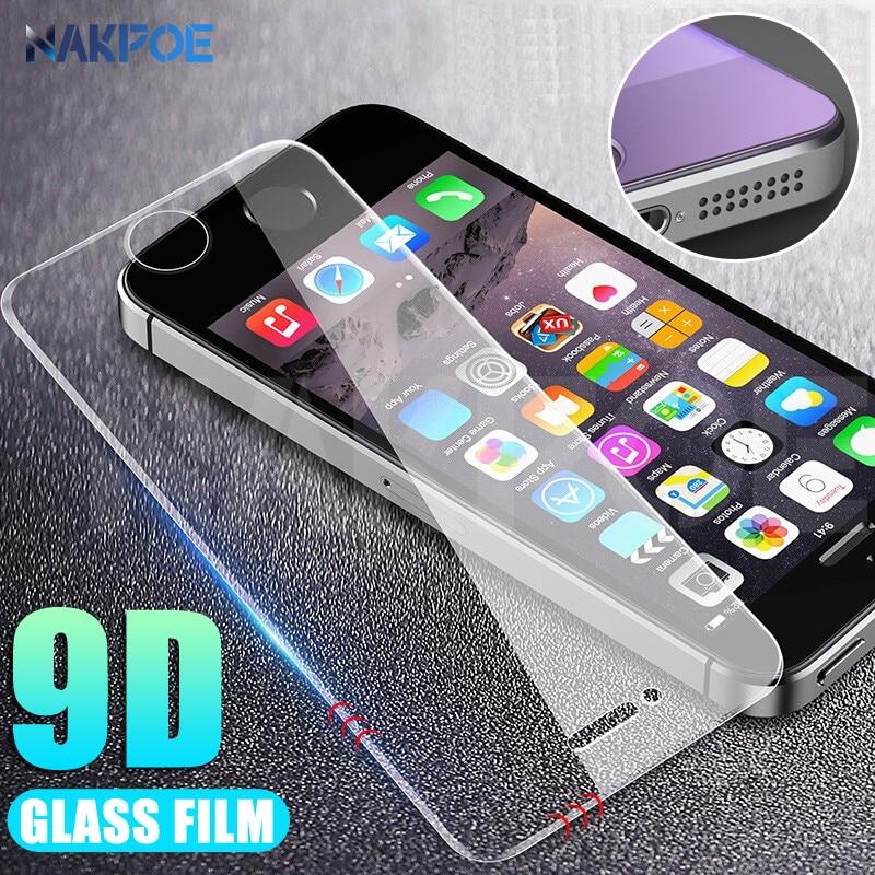 9D закаленное стекло для Apple iPhone 5 5S 5C SE Анти-взрыв закаленное защитное стекло на для iPhone 5S, SE 4S защитная пленка