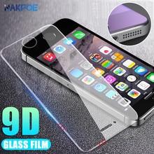 Vidrio Templado 9D para Apple iPhone 5 5S 5C SE Anti-ráfaga vidrio Protector de pantalla templado para iPhone 5S SE 4S película protectora