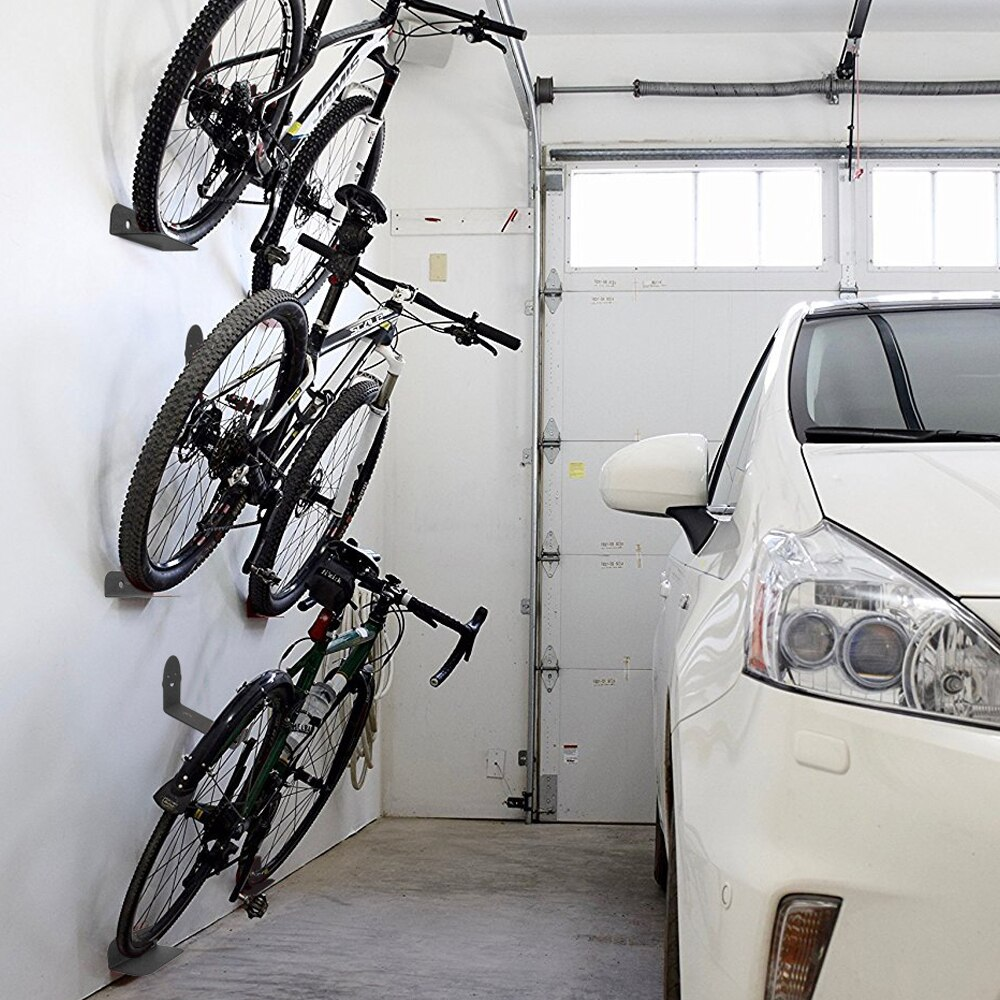 3 pièces/ensemble vélo porte-vélo vélo pédale porte-cadenas pneu montage mural vélo Support mural stockage Support de suspension vélo accessoire