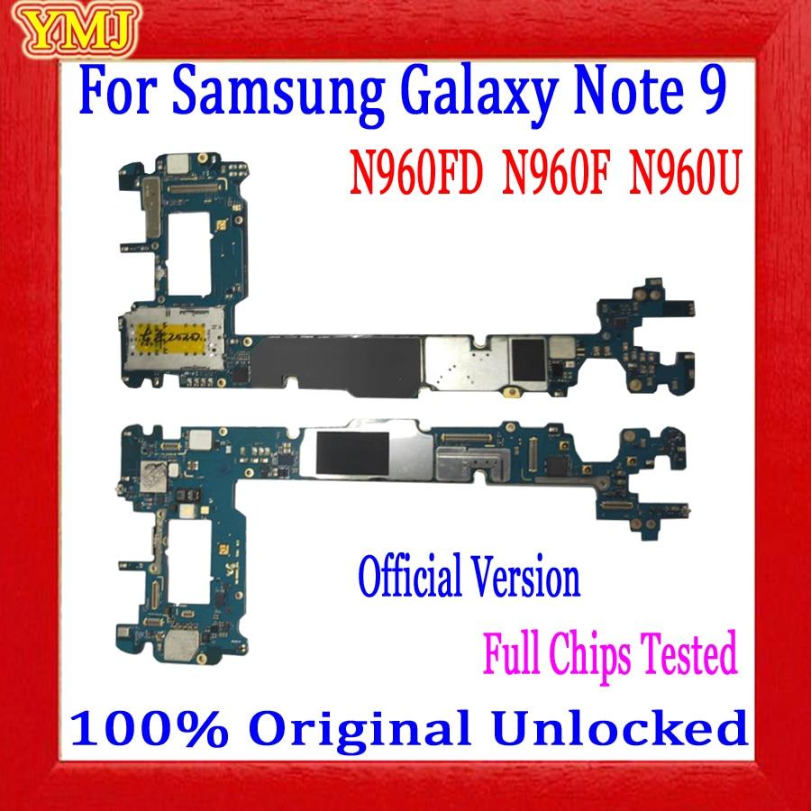 Original entsperrt Motherboard Für Samsung Galaxy Note 9 N960F N960FD N960U 128GB Mainboard Logic board 100% getestet