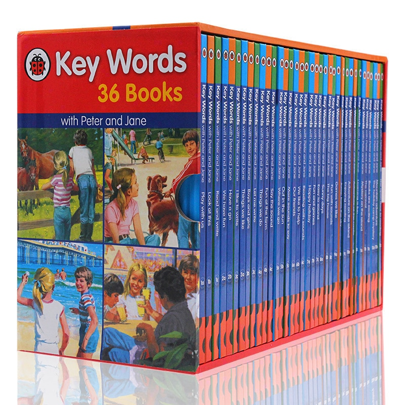 36 books/set Ladybird Key Words with Peter and Jane English Picture Reading children early education textbook magic phonics book