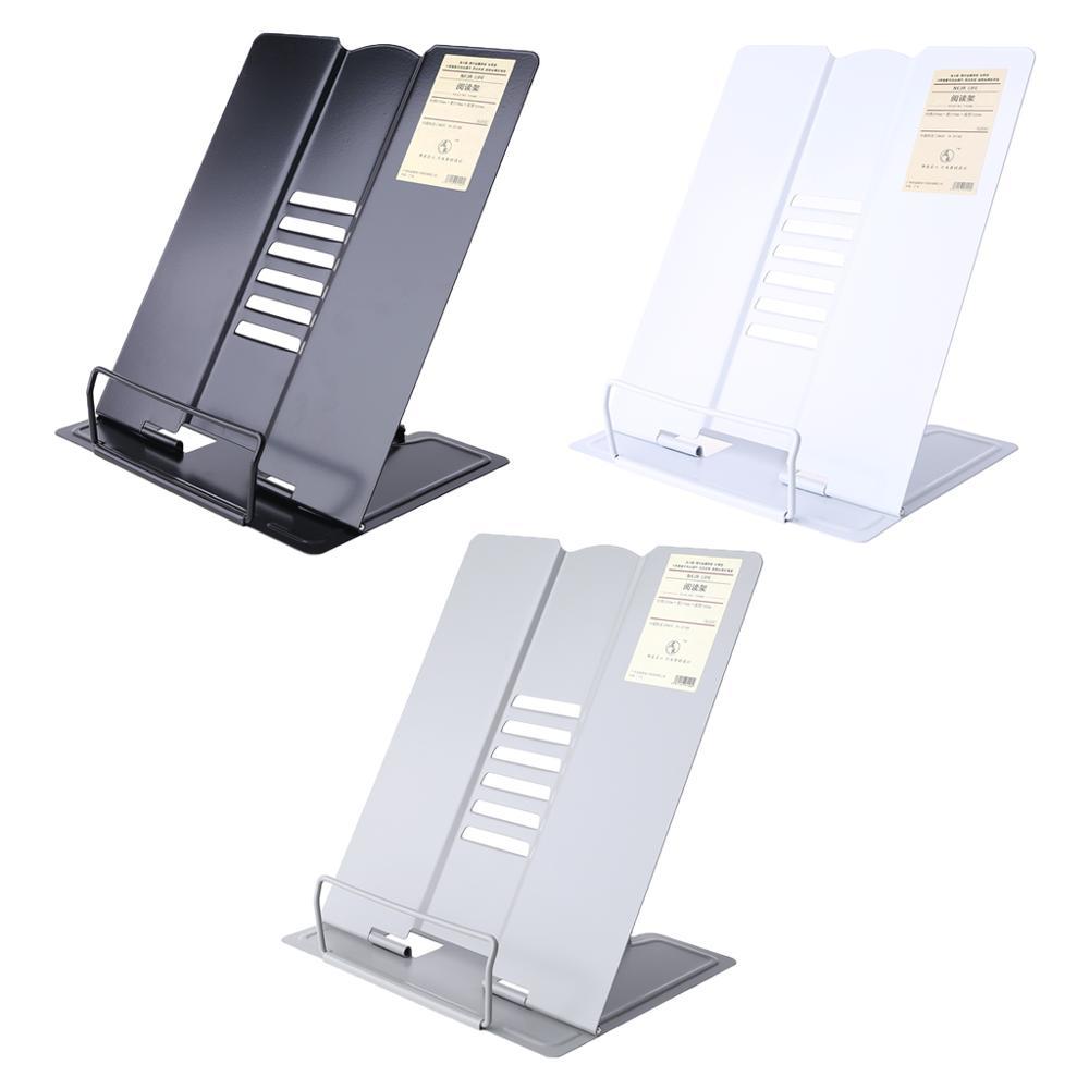 Металлический регулируемый держатель для книг для чтения Подставка для книг подставка для документов Подставка для книг